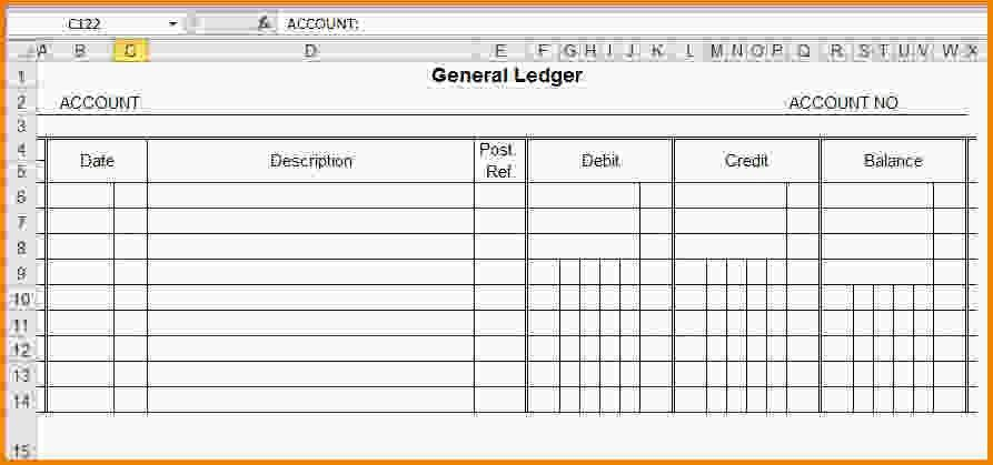 general ledger template - LetterHead Template Sample