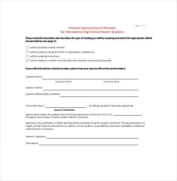 Sample Sponsorship Agreement - Template Examples