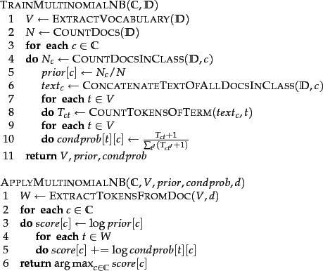 Naive Bayes text classification