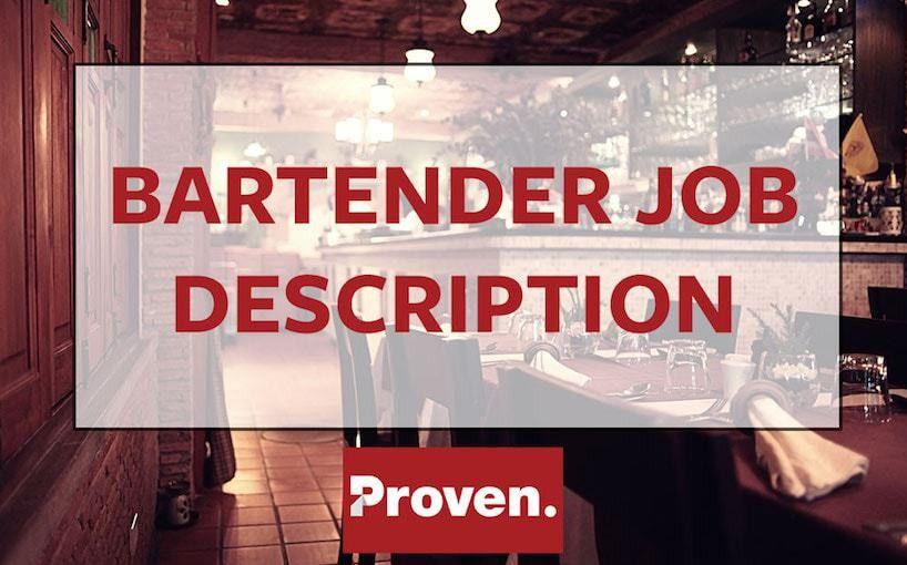 The Perfect Bartender Job Description