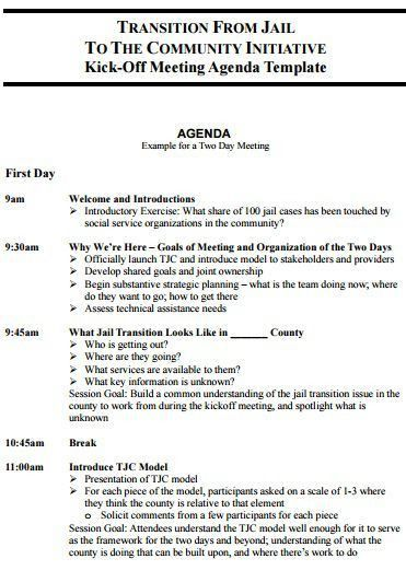 205 Professional Meeting Agenda Templates - Demplates