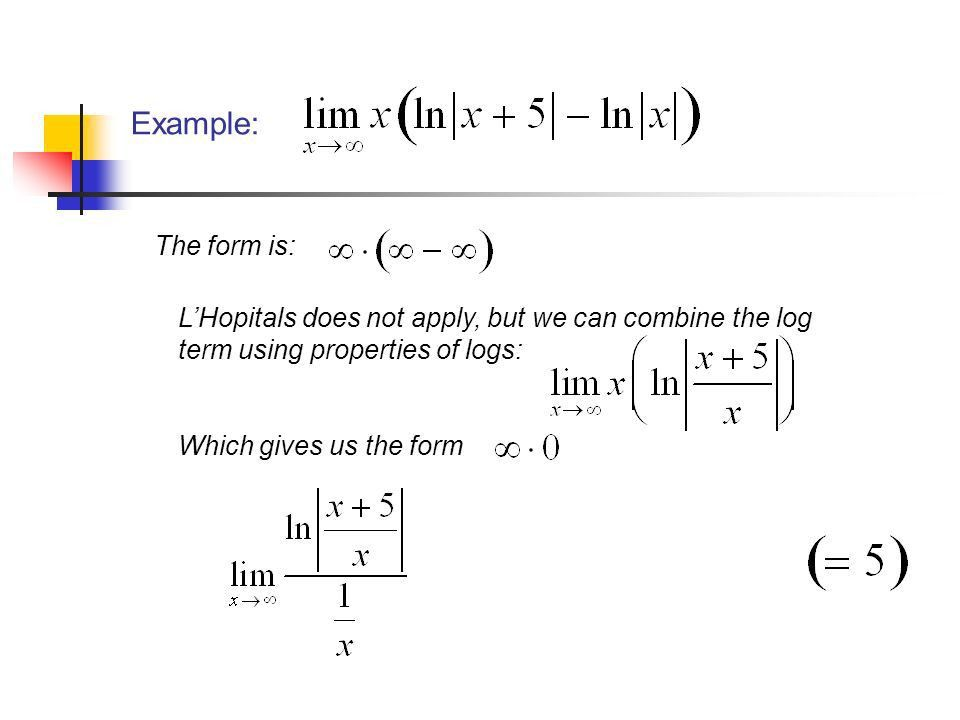 Indeterminate Forms and L'Hopital's Rule Part 2 Chapter 4.4 April ...