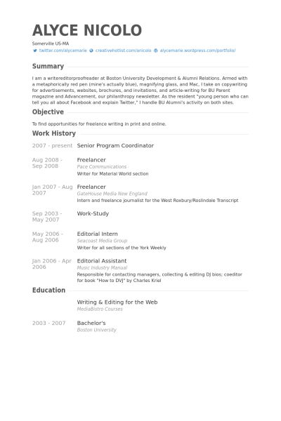 Senior Program Coordinator Resume samples - VisualCV resume ...