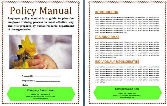 Policy Manual Template. Sample Financial Procedures Manual ...