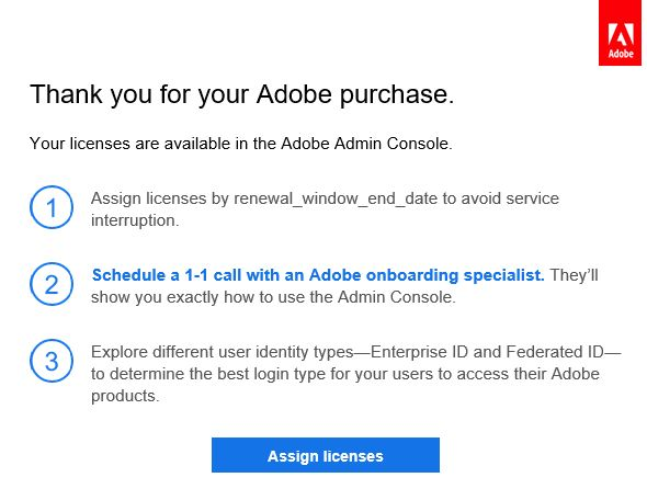 Migrate existing users to the Adobe Admin Console