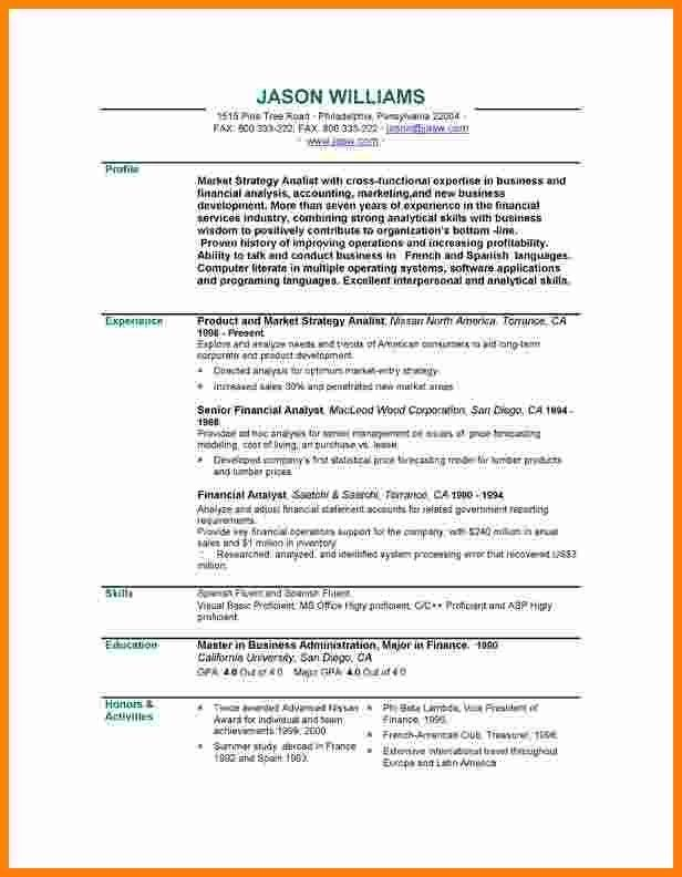 5+ job profile examples resume sample | ledger paper