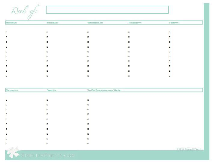 25 best FREE Printables: Planners images on Pinterest | Planner ...