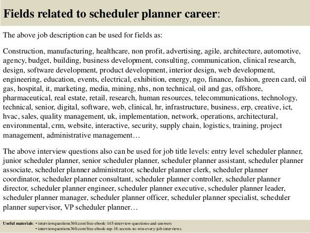Top 10 scheduler planner interview questions and answers