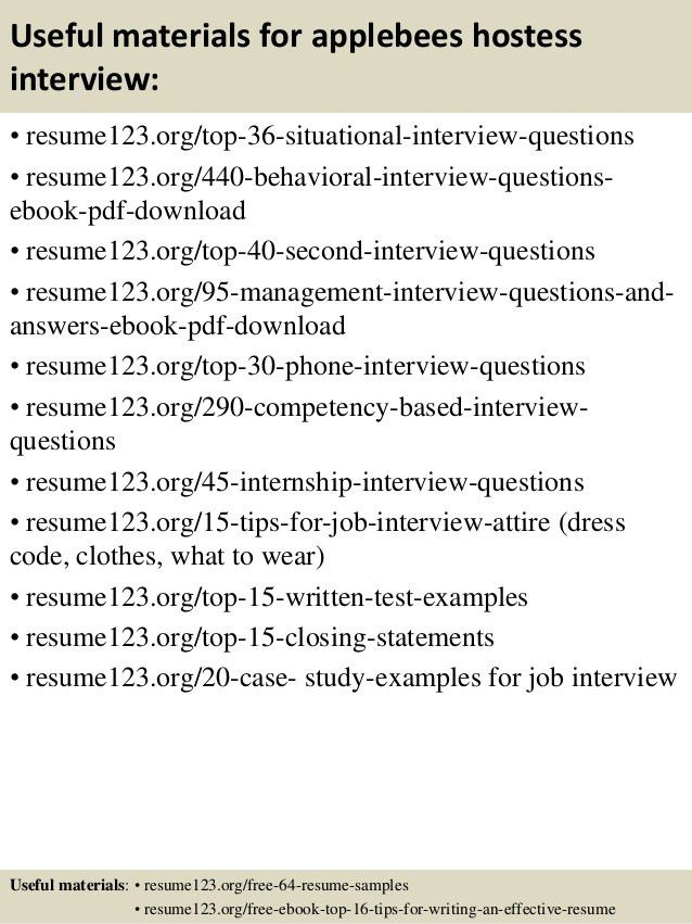 sample hostess resumes