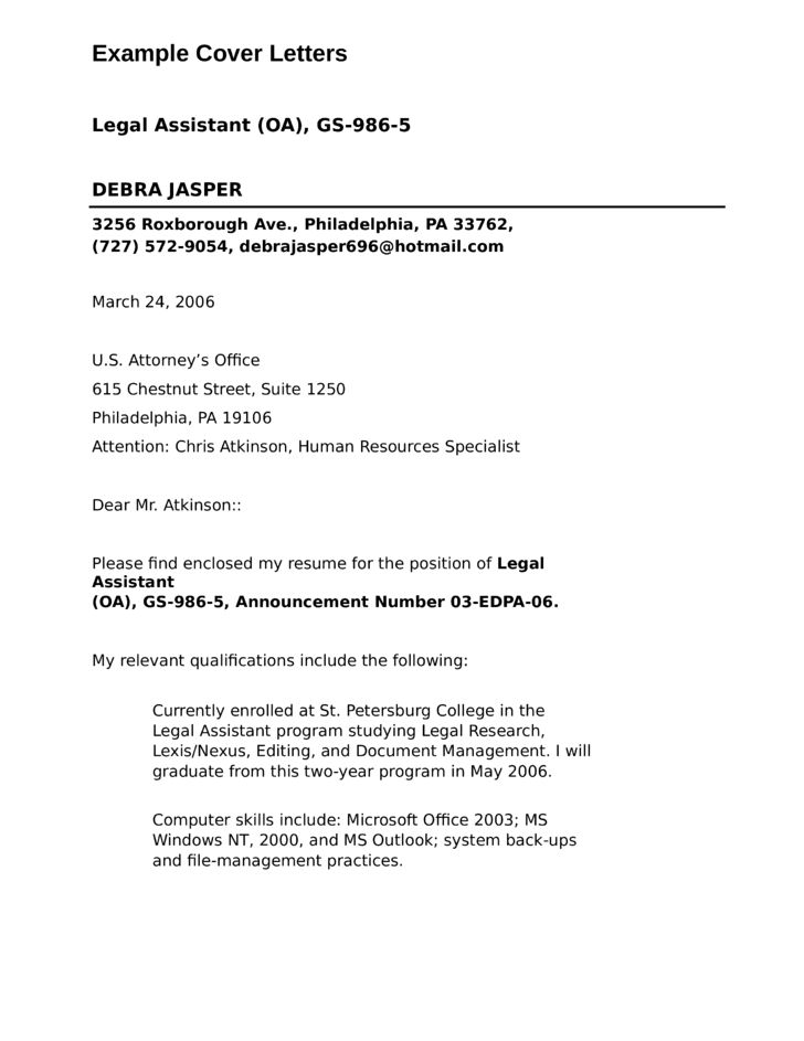 Legal Officer Assistant Cover Letter Samples and Templates