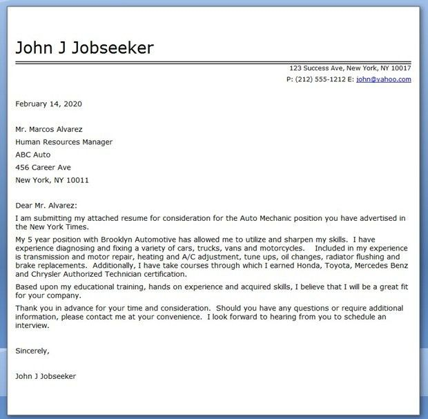 Diesel Mechanic Cover Letter Best Diesel Mechanic Cover Letter - Automotive account executive cover letter