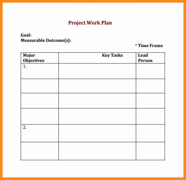 6+ work plan format | musicre sumed