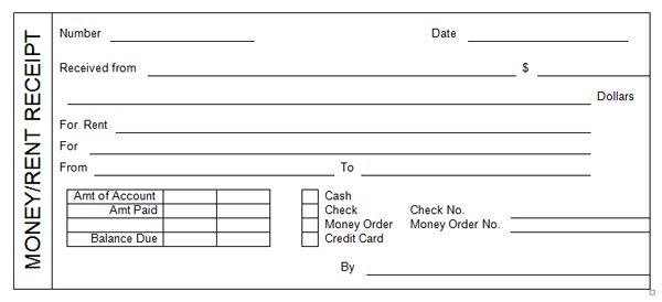 Rent Receipt Template #2