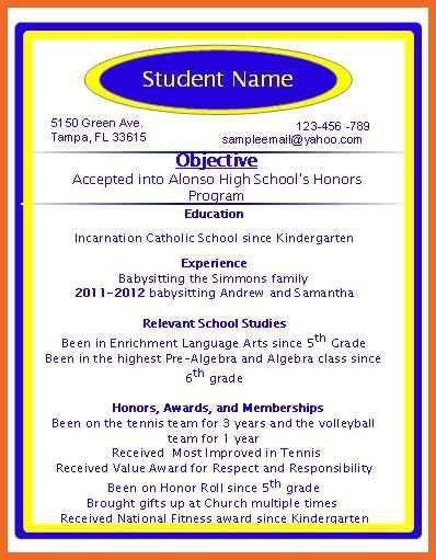 special skills resume | sop example