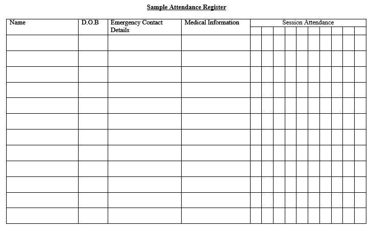 11 Free Sample School Attendance Sheet Templates – Printable Samples