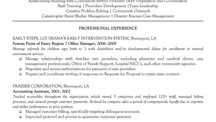 Resume Example For Receptionist administrative director resume ...