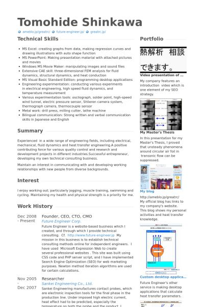 Founder / Ceo Resume samples - VisualCV resume samples database