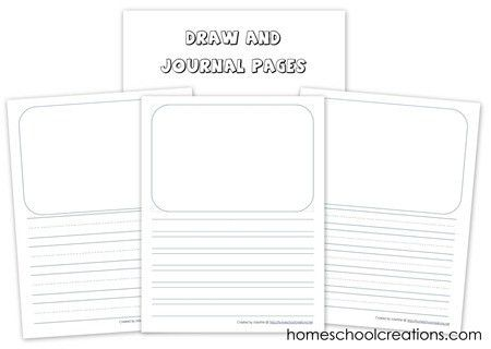 Draw and Journal Pages Printable | Journal, Child and Writing prompts