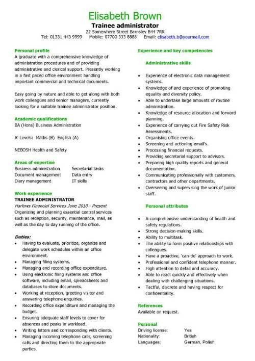 administrator resume objective best administrative assistant