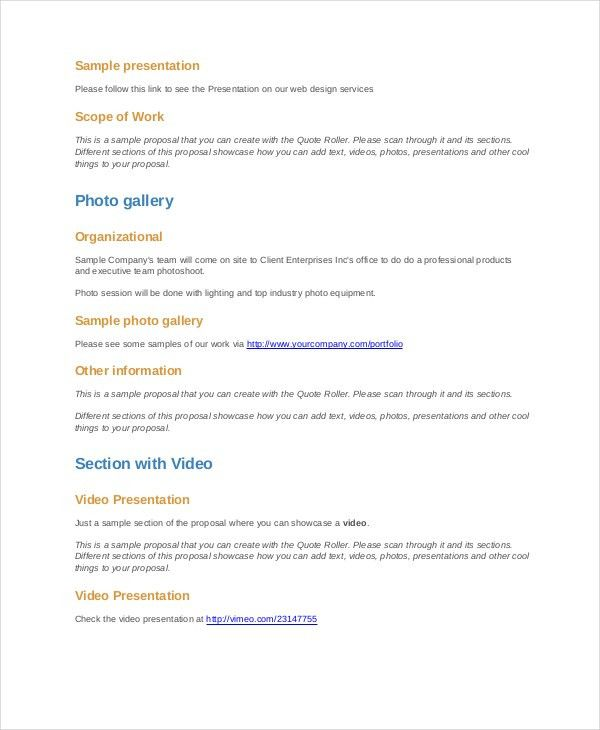 Project Proposal Template - 11+ Free Word, PDF, PSD Documents ...