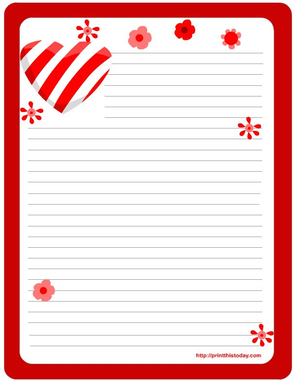 Free Printable Valentine Stationery