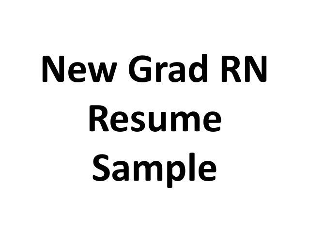 new grad nurse resume new grad registered nurse cover letter ...