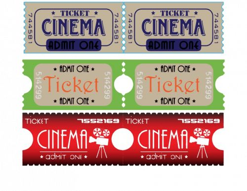 Movie Theater Ticket Stubs | Movie tickets, Theater tickets and ...