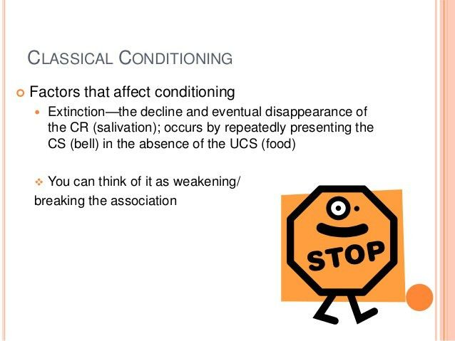 Classical conditioning: Generalization, discrimination, extinction, a…
