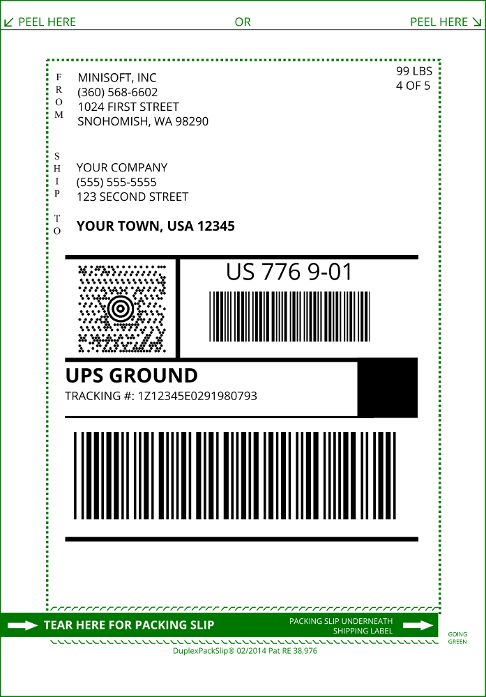 DuplexPackSlip® Laser Forms | Minisoft, Inc.