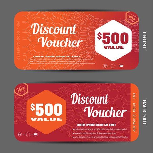 Modern discount voucher template vector 05 - Vector Label free ...