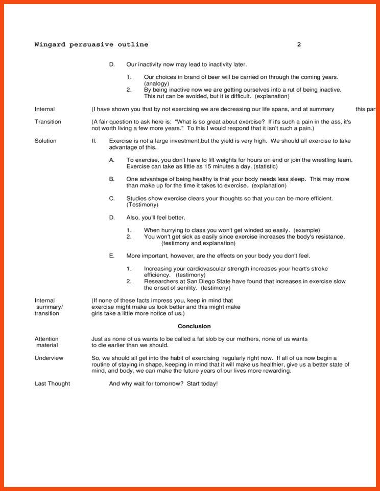 persuasive speech outline examples | program format