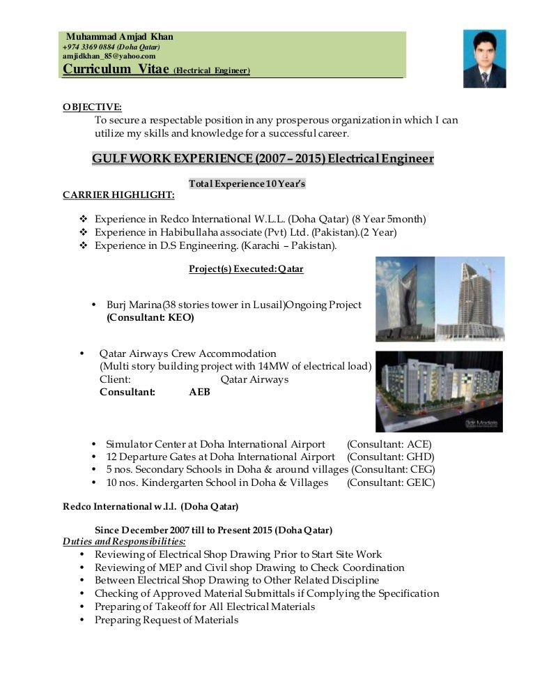 Amjad Electrical Engineer 19-09-2015