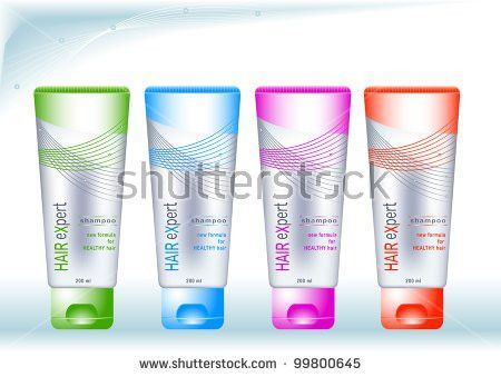 Bottles Sample Labels Cosmetics Health Care Stock Vector 99800645 ...