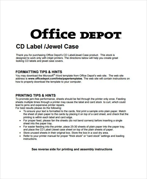 Sample Jewel Case Template - 6+ Free Documents Download in PDF
