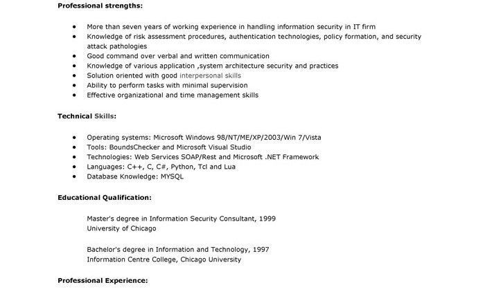 16 fields related to security consultant. consultant resume ...
