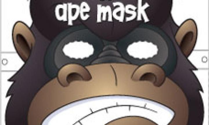Ape face mask template - Kidspot