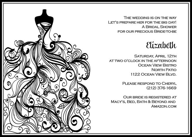 Black And White Wedding Invitation Templates | PaperInvite