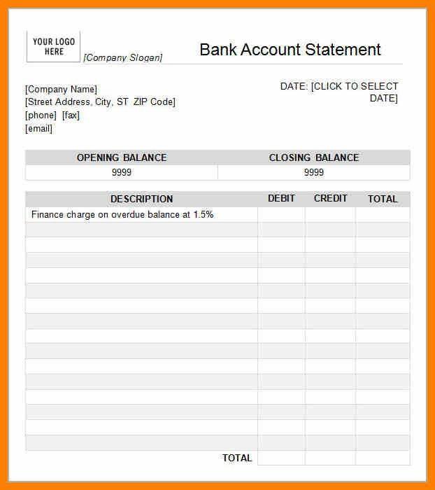 6+ free bank statement template | target cashier