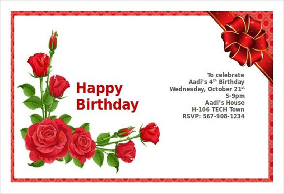 Happy Birthday Word Template Happy Birthday Greeting Cards Free – Word Birthday Card Template
