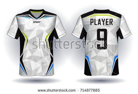 Set Soccer Kit Football Jersey Template Stock Vector 443315077 ...