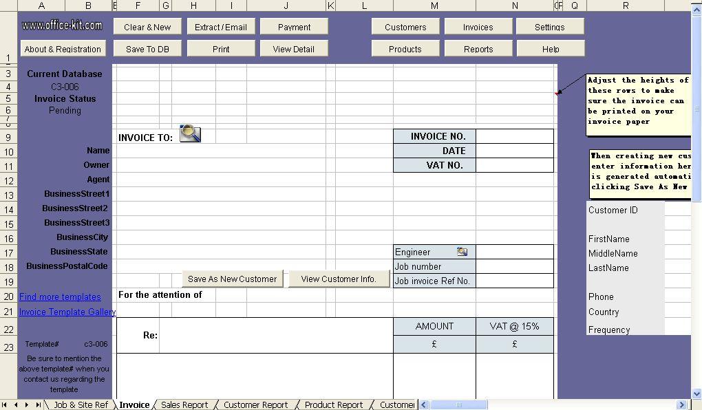 Building Service Billing Template - Uniform Invoice Software