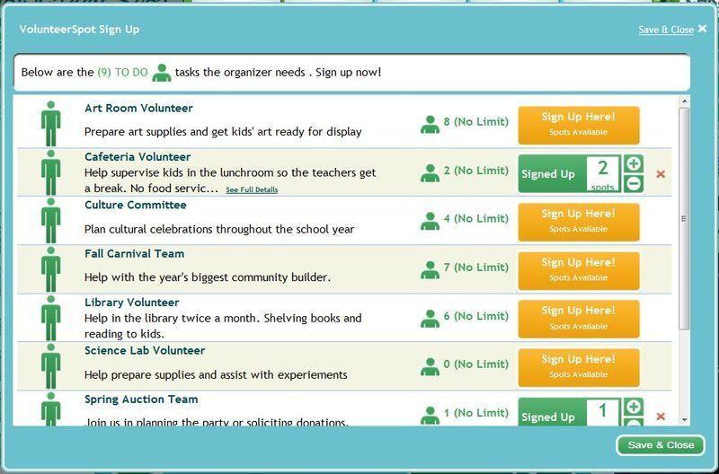 Free School Volunteer Sign Up Sheet Template - Online SignUp Blog ...