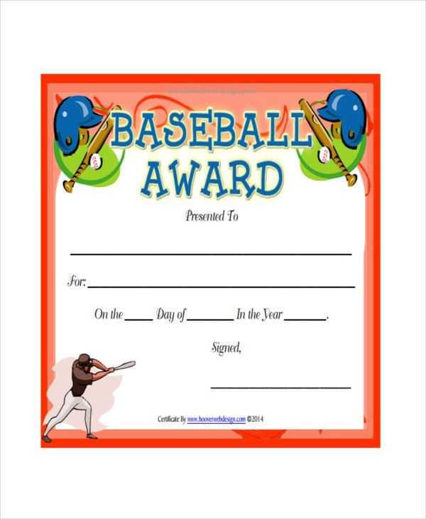 Baseball Certificate Template - 5+ Free PDF Document Downloads ...