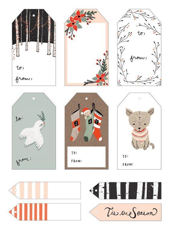 20 Free Printable Christmas Gift Tags | The Pinning Mama