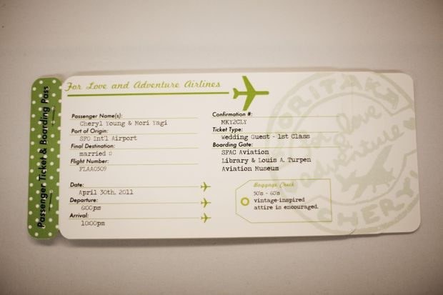 Plane Ticket Invitations, Passport Programs, and Luggage Tag ...