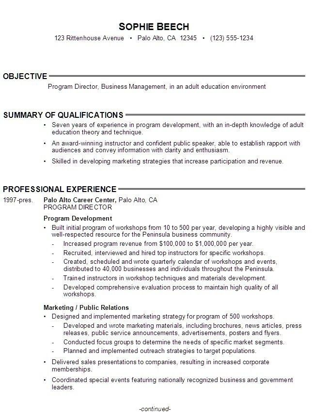 Continuing Education Resume - Best Resume Collection