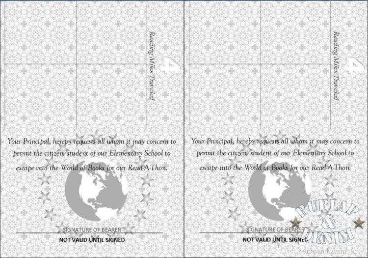 Passport to ReadingBurlap & Denim