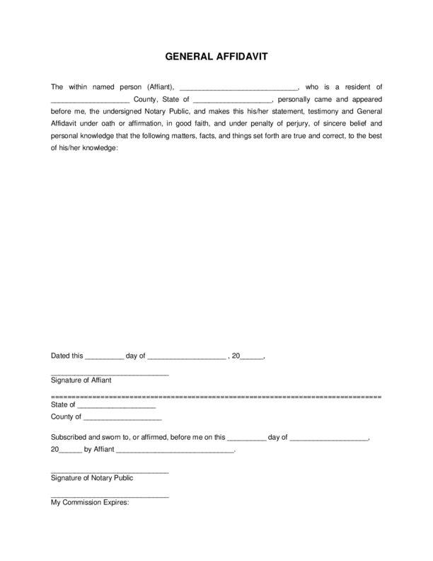 Affidavit | LegalForms.org
