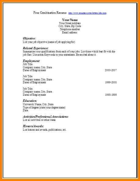 6+ blank resume format word | cashier resumes