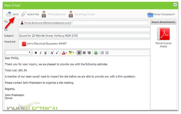 Send your first quote – ServiceM8 Help